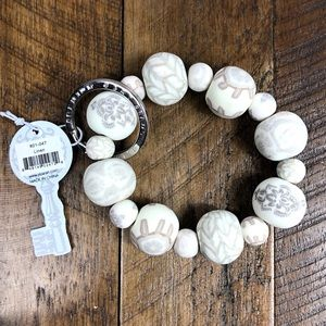 Jilzarah NEW Linen Wrist Keychain with Silver Ring